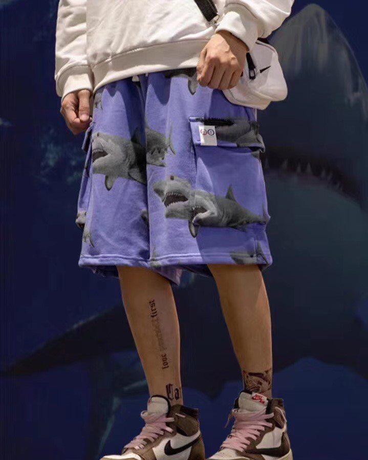 《2色》シャークスウェットカーゴショートパンツの画像2